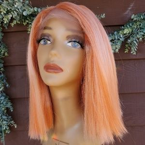 apricot orange new lace front wig